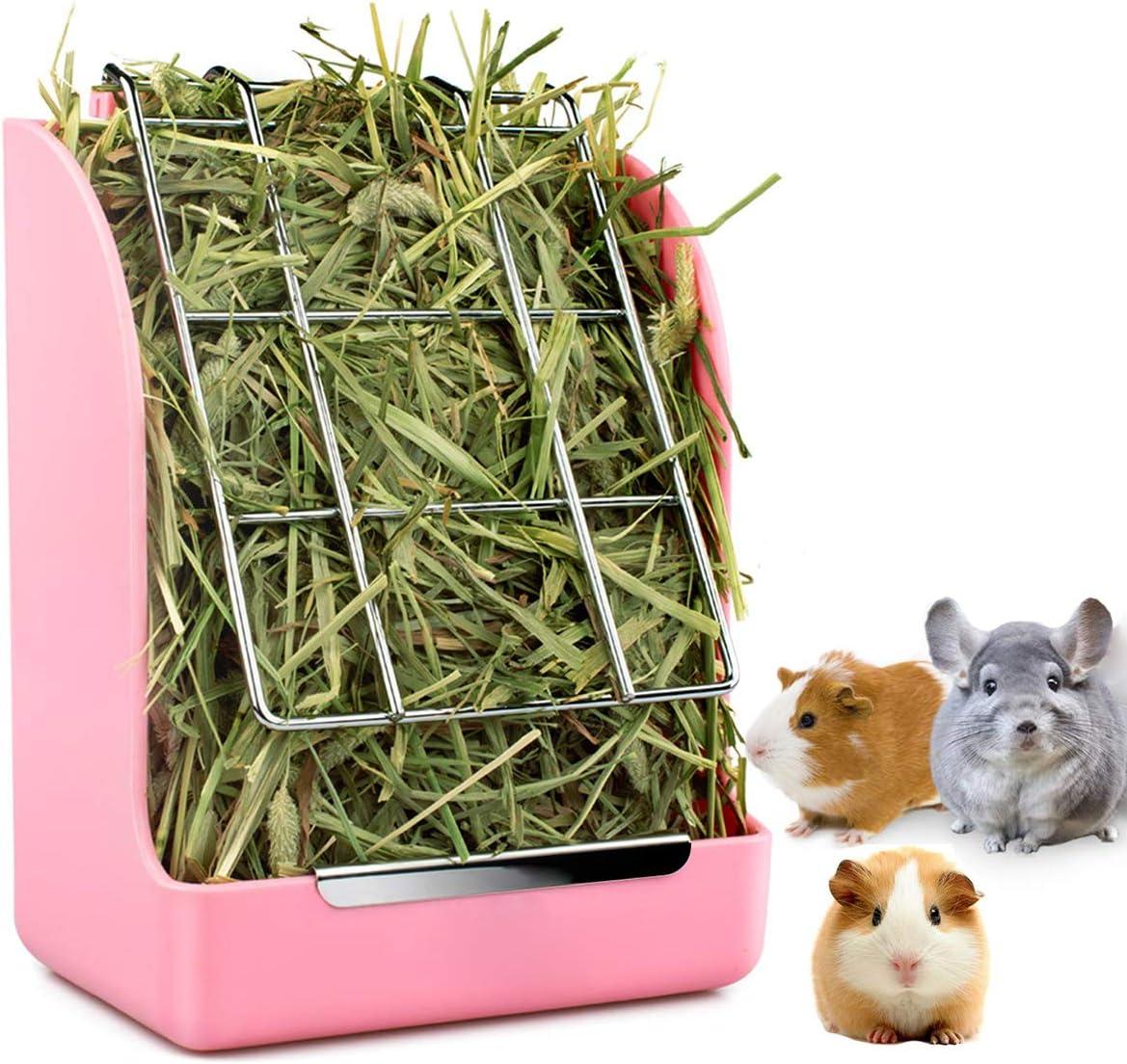 STKYGOOD Rabbit Feeder Bunny Guinea Pig Hay Feeder,Hay Guinea Pig Hay Feeder,Chinchilla Plastic Food Bowl
