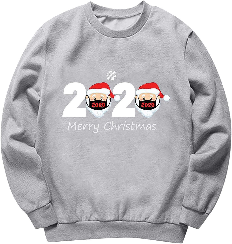 Fudule Women Pullover Shirts Cute Plaid Christmas Tree Printed Vintage Graphic Crewneck Sweatshirt Long Sleeve Tee Tops