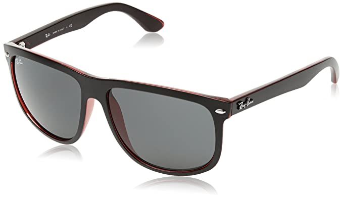 Amazon.com  Ray-Ban RB4147 - Black on Red Frame Dark Grey Lenses ... f81e17d5a4dd