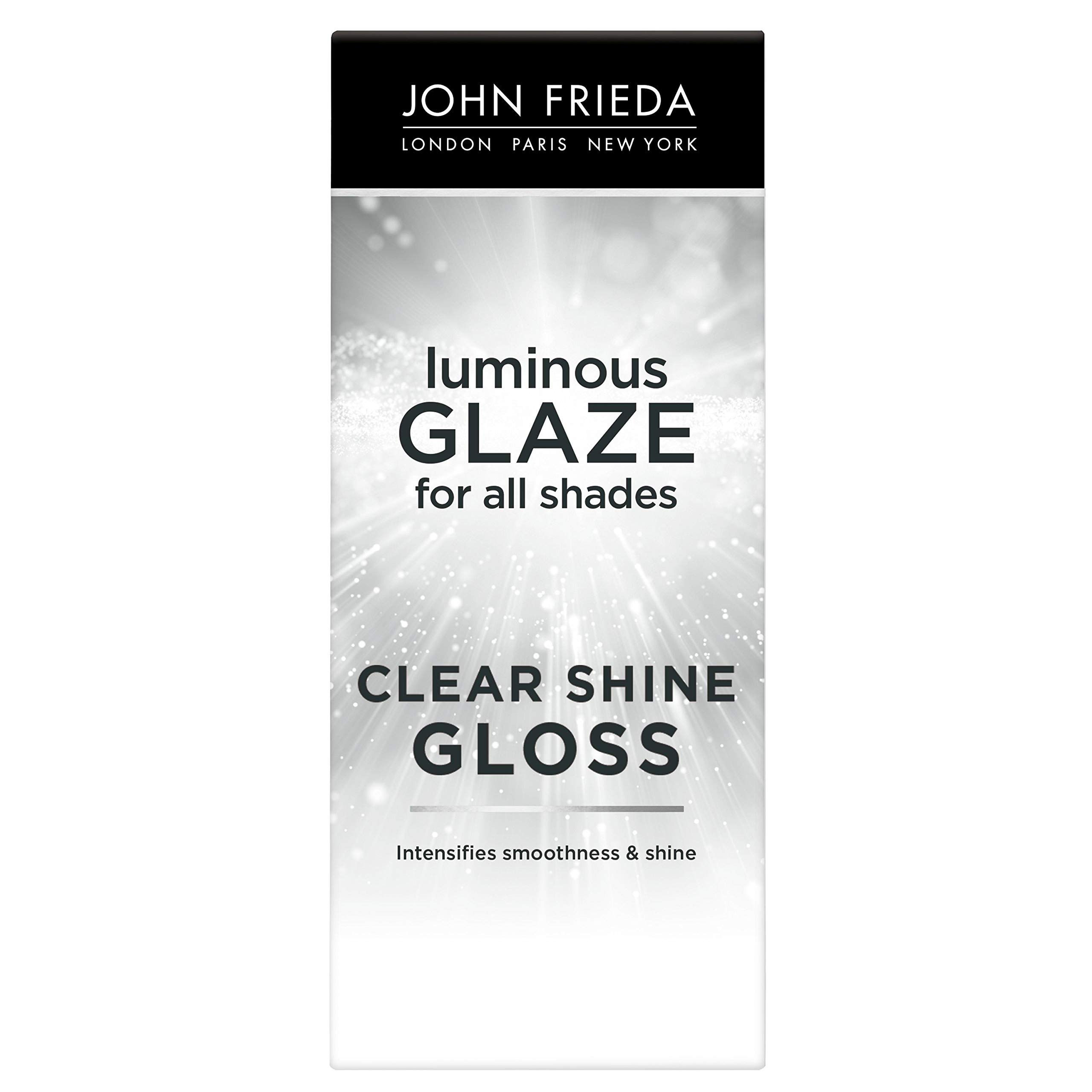 John Frieda Luminous Glaze Clear Shine Gloss, Anti-Fade, Color Enriching Gloss, Safe for Color Treated Hair, 6.5 Ounces
