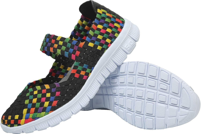 L-RUN Frauen Wasser Schuhe gewebt leichte Schlupf auf Sportschuhe Casual L-RUN-588