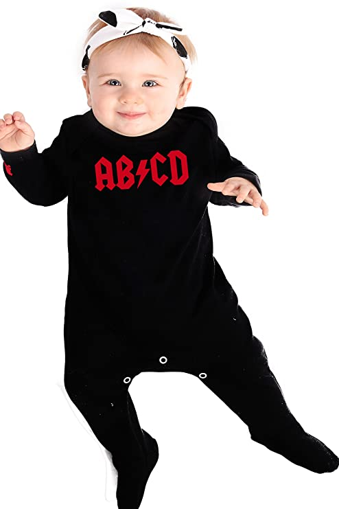 b464678715c8c Rock n Roll Baby AB CD para niño Cool Rock Star Baby traje de bebé ...