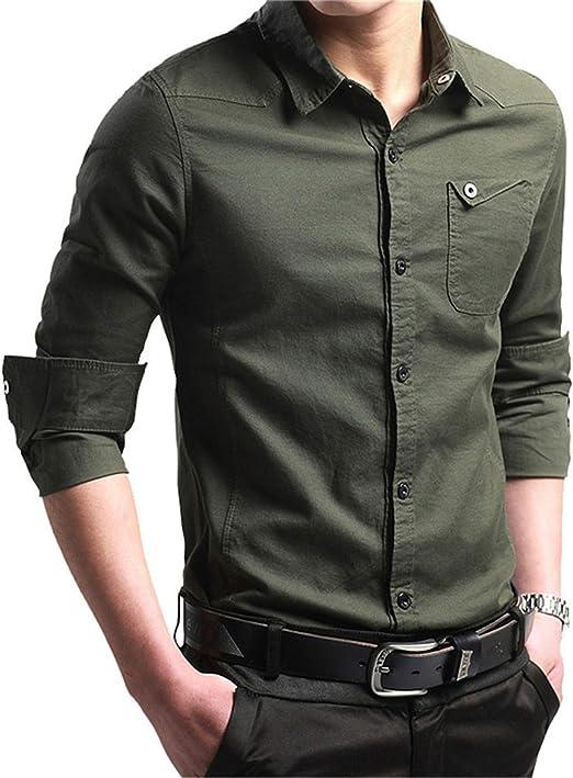 Men/'s Casual Dress Shirt Long Sleeve Slim Fit Button Down Shirt