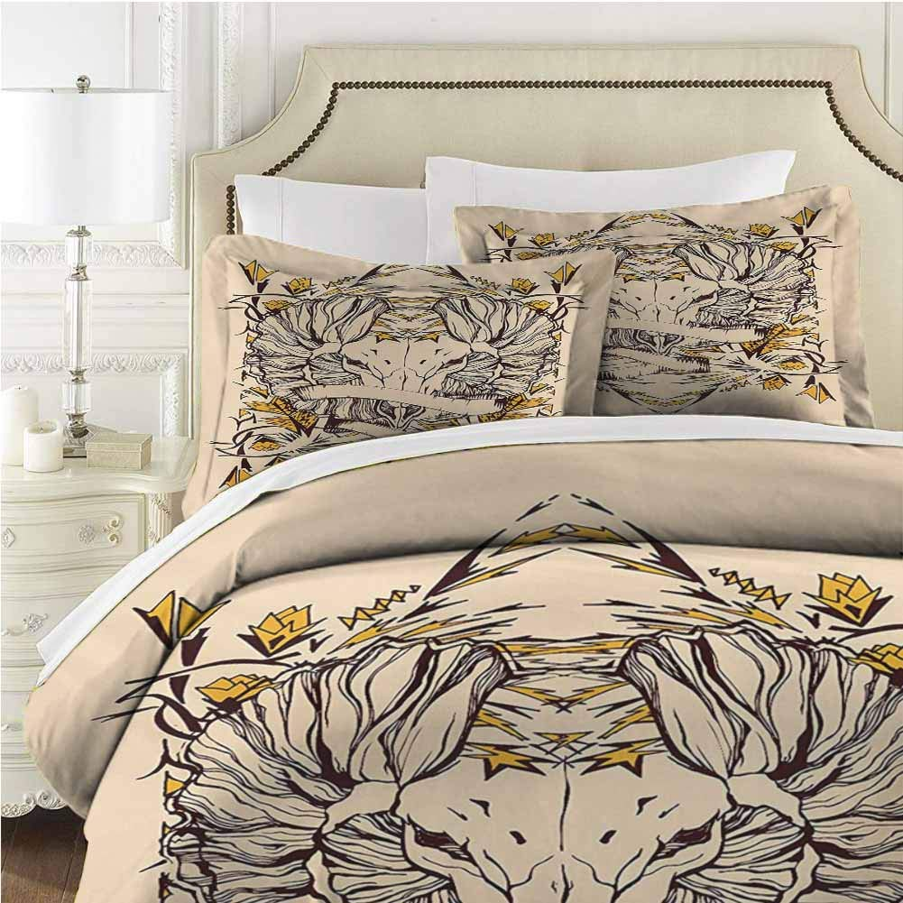 Zodiac Aries Comforter Bedding Set Comforter Set Bed 3 Pieces (1 Duvet Cover + 2 Pillow Shams) Soft Comfy Breathable Fade - Twin (68x90 inches) - Yellow Brown