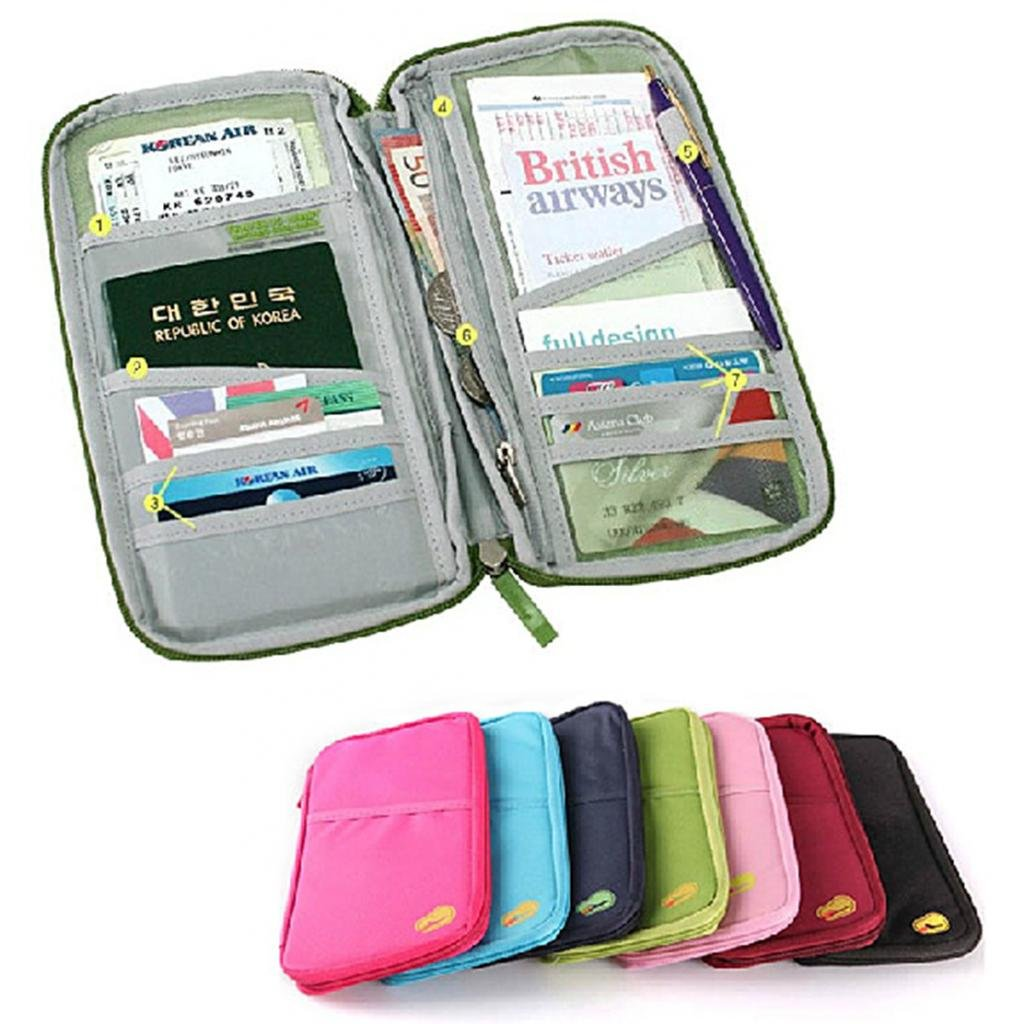 amazon com passport credit id card holder cash organizer pouch