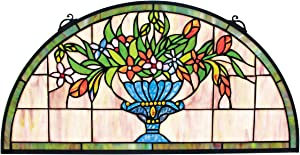Stained Glass Panel - Titchfield Abbey Demi-Lune Stained Glass Window Hangings - Window Treatments