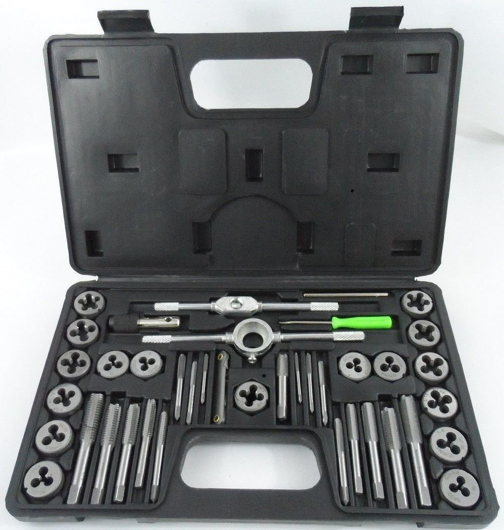 AN&GLOBALS Case Screw Extractor Remover Kit Thread Cleaner NEW 40pc Metric Tap & Die Set by AN&GLOBALS