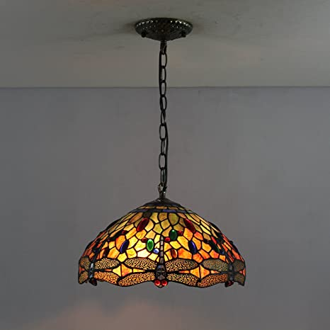12-Inch Vintage Tiffany lámpara de techo lámpara de techo ...