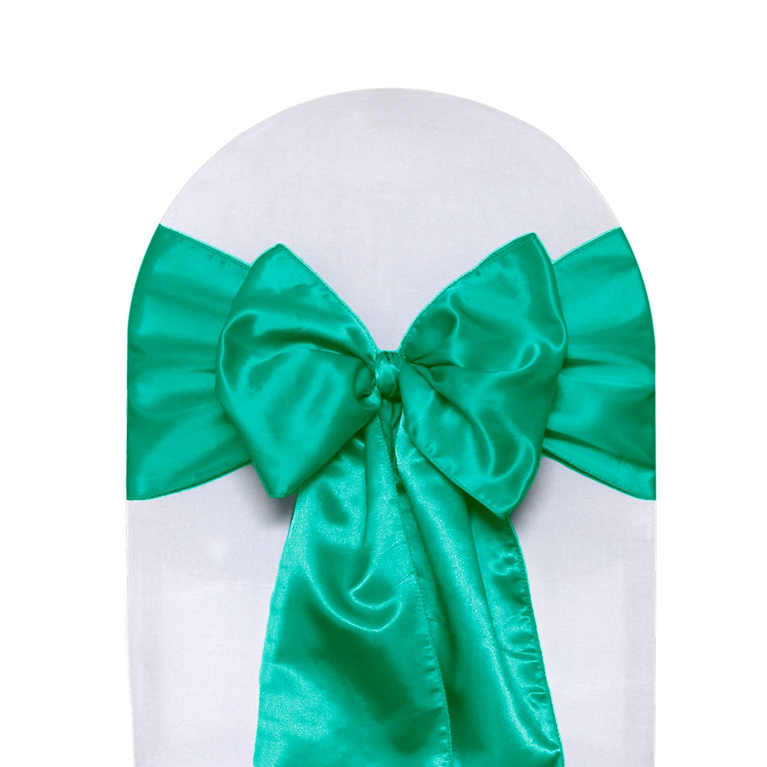Amazon Satin Chair Sashes Teal Pack of 10 Home & Kitchen