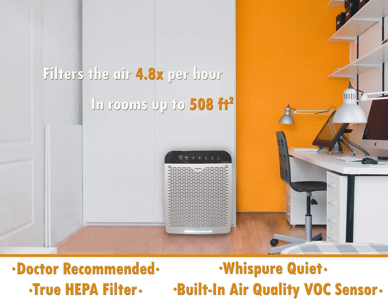Whirlpool Whispure purificador de aire HEPA filtro de aire: Amazon.es: Bricolaje y herramientas