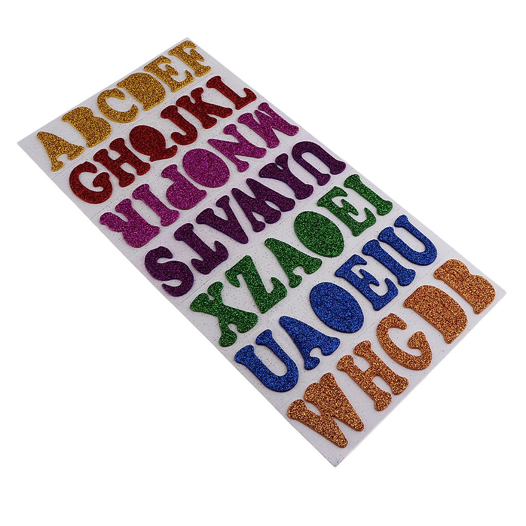 Self Adhesive DIY A-Z Alphabet Decor Glitter Crystals Letter Home Stickers