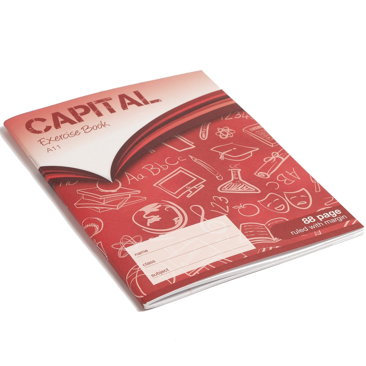 CAPITAL F8M 8x6.5 inch 88 Page Printed Exercise Book