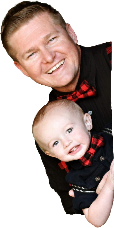 Jacob Alexander Matching Father Son Mens Boys Bow Tie Set