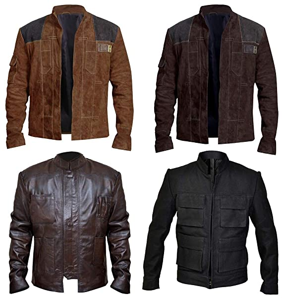 Star Space Warrior Han Leather Solo Wars Cosplay Costume Jacket Collection