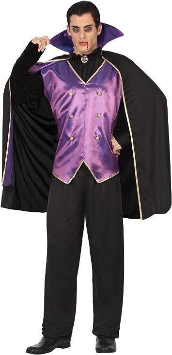 Atosa 26484 Disfraz vampiro morado adulto XL, talla hombre: Amazon ...