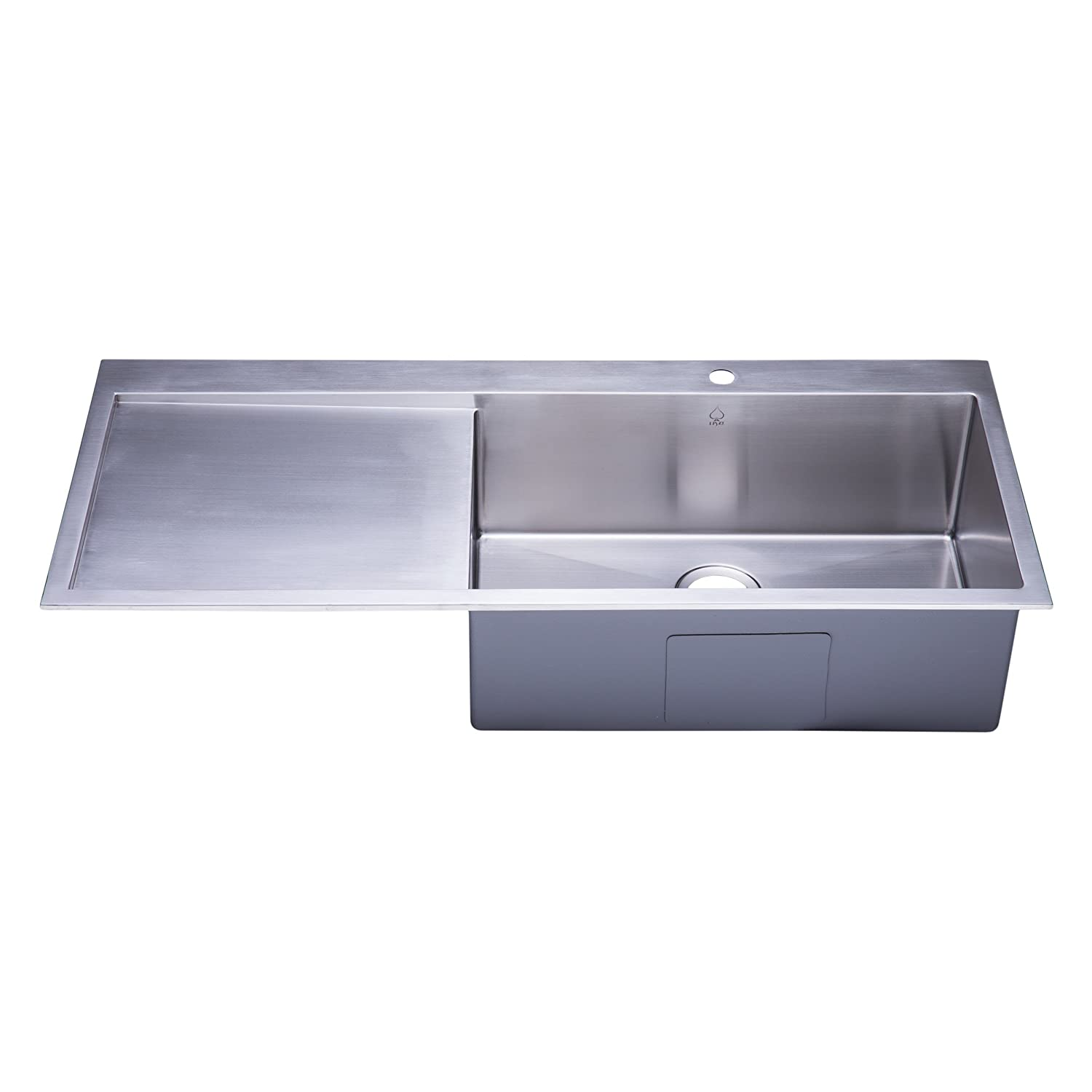 top rated stainless steel kitchen sinks top mount stainless steel kitchen sink with drainboard 9493