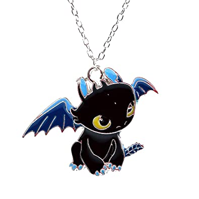 Beaux Bijoux How to Train Your Dragon Necklace - Toothless Night Fury Pendant D5Pks