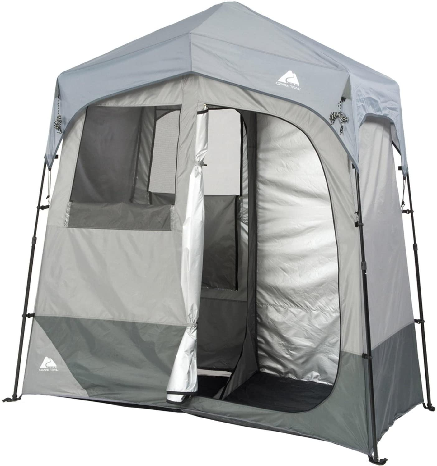 Amazon Com Ozark Trail Instant 2 Room Shower Changing Shelter Outdoor Sports Outdoors