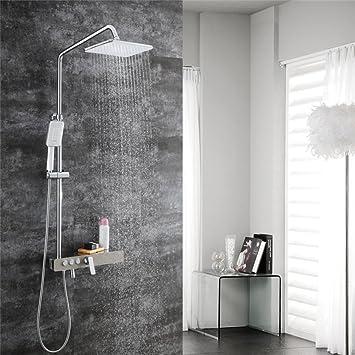 CF Set de Ducha baño Exterior Ducha Ducha Estufa Ducha Caliente Caliente Cabezal de Ducha Juego de baño Juego de Ducha: Amazon.es: Hogar