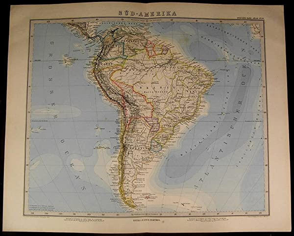 South america brazil argentina chile patagonia peru 1885 fine old south america brazil argentina chile patagonia peru 1885 fine old detailed map sciox Choice Image