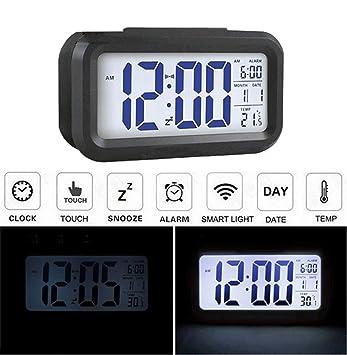 Audew Réveil Silencieux LED Digital Horloge Alarm Rétro-éclairage ...
