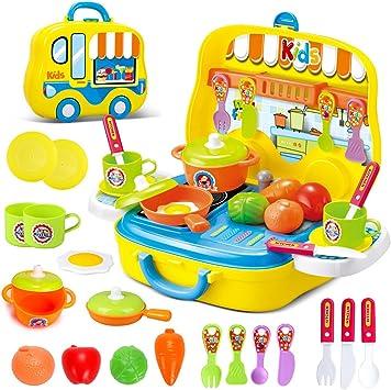 Dreamon Mini Cucina Giocattolo Set Cuoco In Valigetta Con Accessori Giochi Per Bambini Amazon It Giochi E Giocattoli