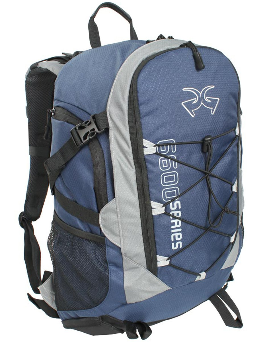 Piper Gear Boxer Backpack Blue Gray, 22x13x7.10-Inch
