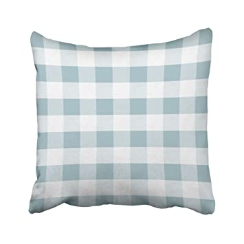 Amazon Com Musesh Blue French Blue And White Buffalo Check Pillow