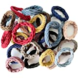 Wetopkim 30 Pcs Hair Ties, Non-Slip and Seamless Hair Bands for Thick Heavy and Curly Hair, Lightweight Highly Elastic…