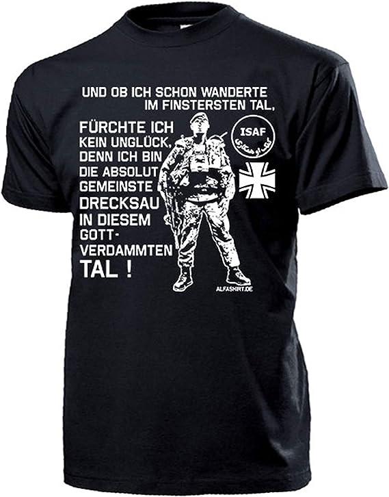 T Shirt #15838 Und ob ich schon wanderte im finsteren Tal Deutscher Soldat