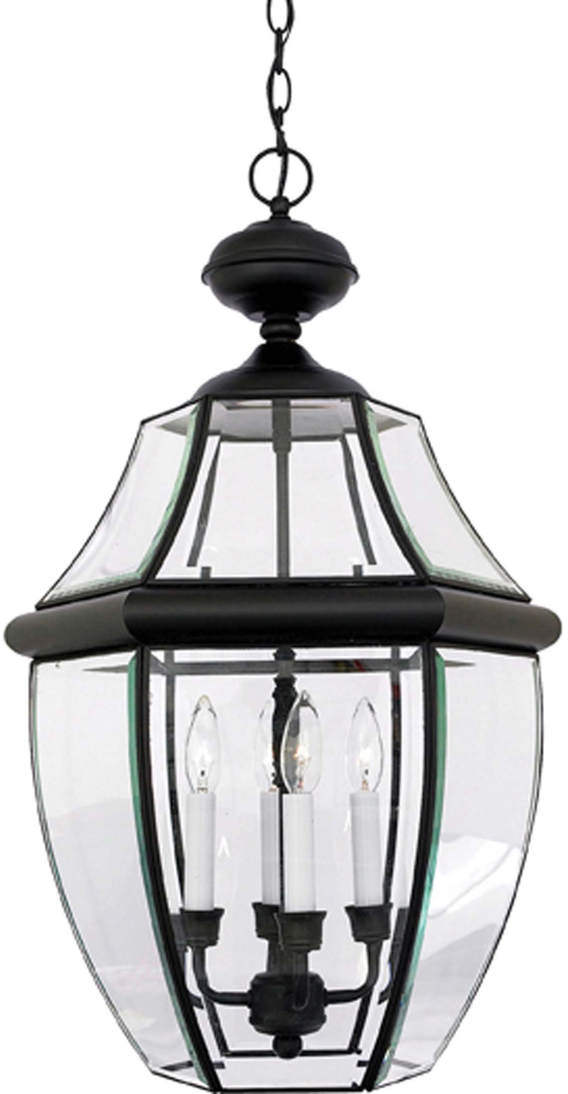 Quoizel NY1180K 4-Light Newbury Outdoor Lantern in Mystic Black