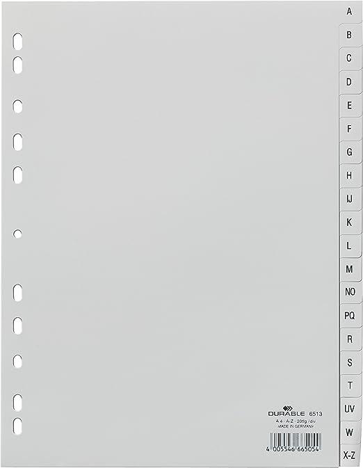 6550//10 A5 hoch Neu OVP Versandkostenfrei 24 Durable Register A-Z 20-tlg.