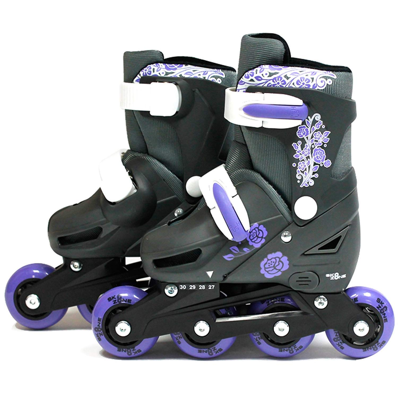 SK8 Zone Girls Purple Roller Blades Inline Skates Adjustable Size Pro Skating