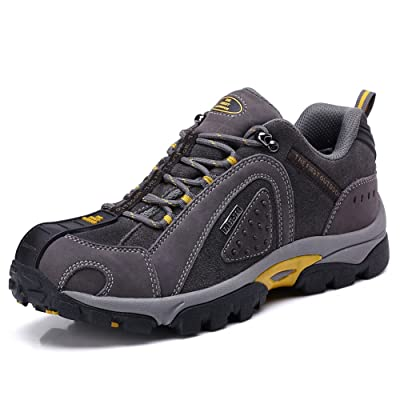 TFO Men Leather Waterproof Hiking Shoes Outdoor Sports Sneaker