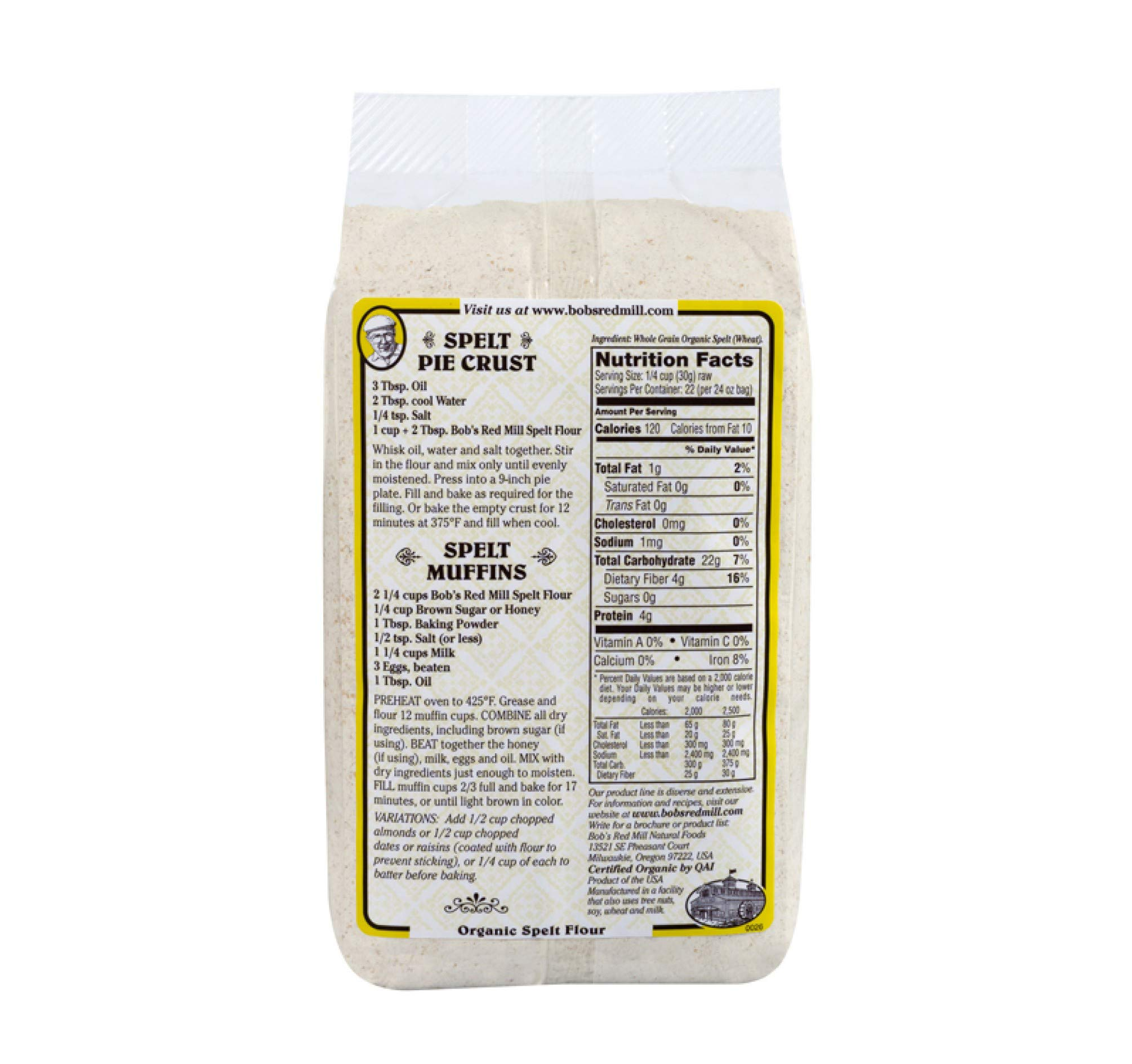 Bob's Red Mill Organic Spelt Flour, 24-ounce (Pack of 4) by Bob's Red Mill (Image #2)