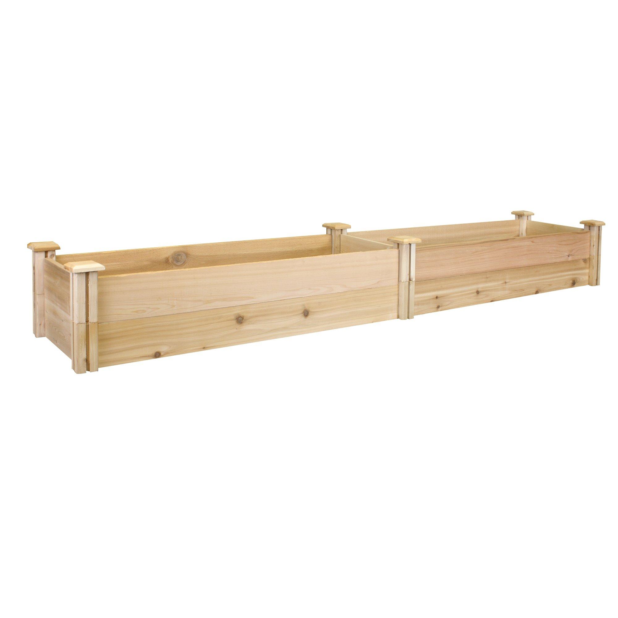 Greenes Fence Premium Cedar Raised Garden Bed, 16'' x 96'' x 11''