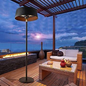 Hogar Decora Estufa eléctrica para Exterior, Calefacción halógena con 2 lámparas: Amazon.es: Hogar