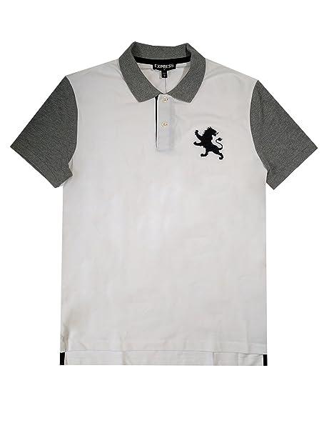 Express Men S Modern Fit Pique Mesh Large Lion Polo Shirt Xxl