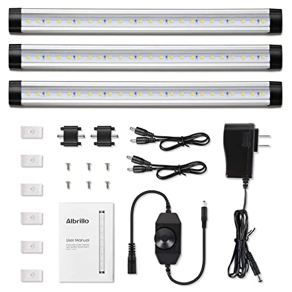 albrillo led under cabinet lighting dimmable under counter lighting rh amazon com