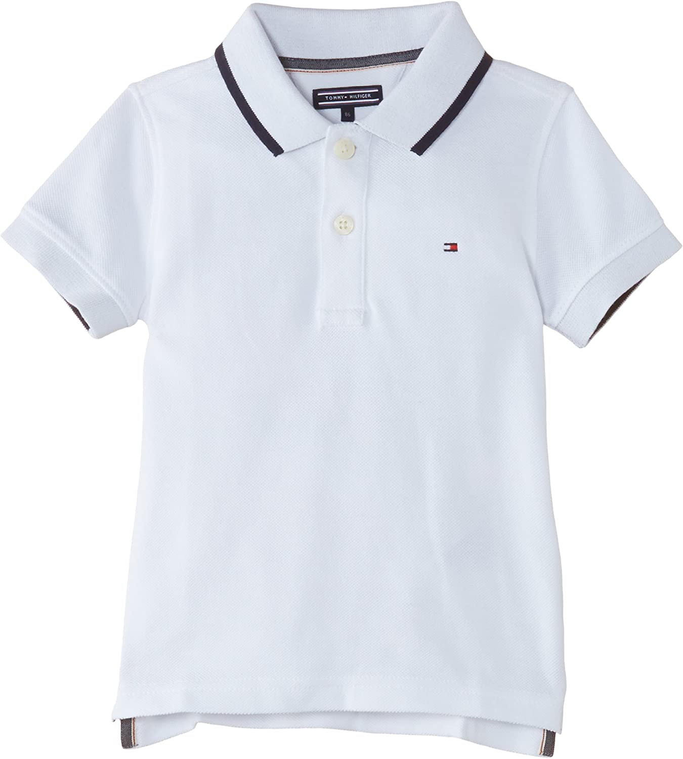 Tommy Hilfiger Back Graphic Polo S/S, Niños, Weiß (Classic White ...