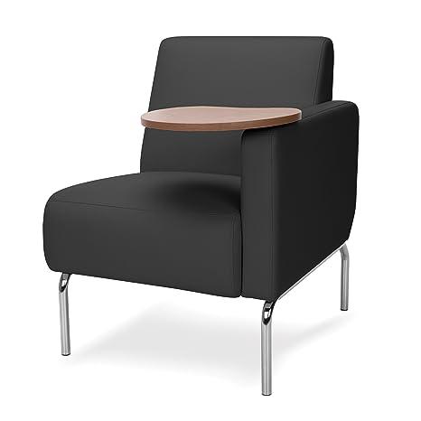 Groovy Ofm 3001Lt Pu606 Bz Triumph Series Left Arm Modular Lounge Chair With Bronze Tablet Polyurethane Seat And Chrome Feet Black Ibusinesslaw Wood Chair Design Ideas Ibusinesslaworg