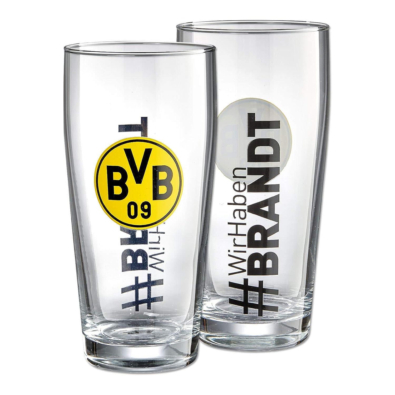 Borussia Dortmund BVB-Glas #Wir haben Brandt 2 Stück ORIGINAL