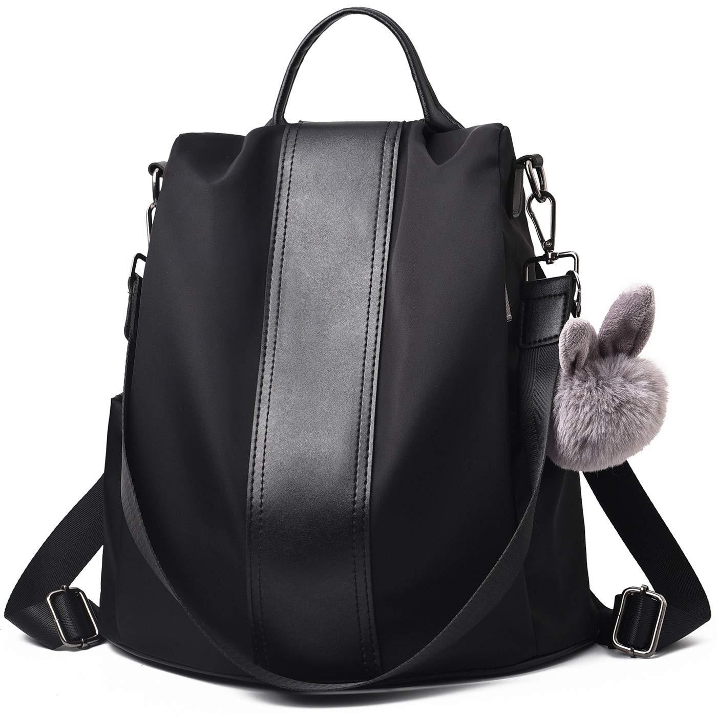 Charmore Women Backpack Ladies Rucksack Waterproof Nylon School bags  Anti-theft Dayback Shoulder Bags (Black2)  Amazon.co.uk  Shoes   Bags b04fcf86a
