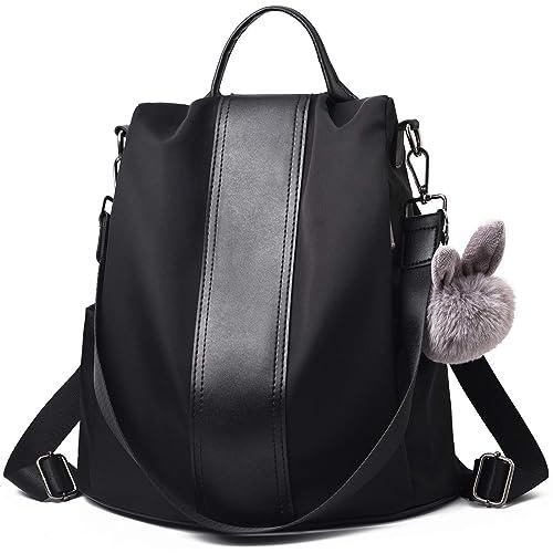 88f789eee7 Charmore Women Backpack Ladies Rucksack Waterproof Nylon School bags  Anti-theft Dayback Shoulder Bags (
