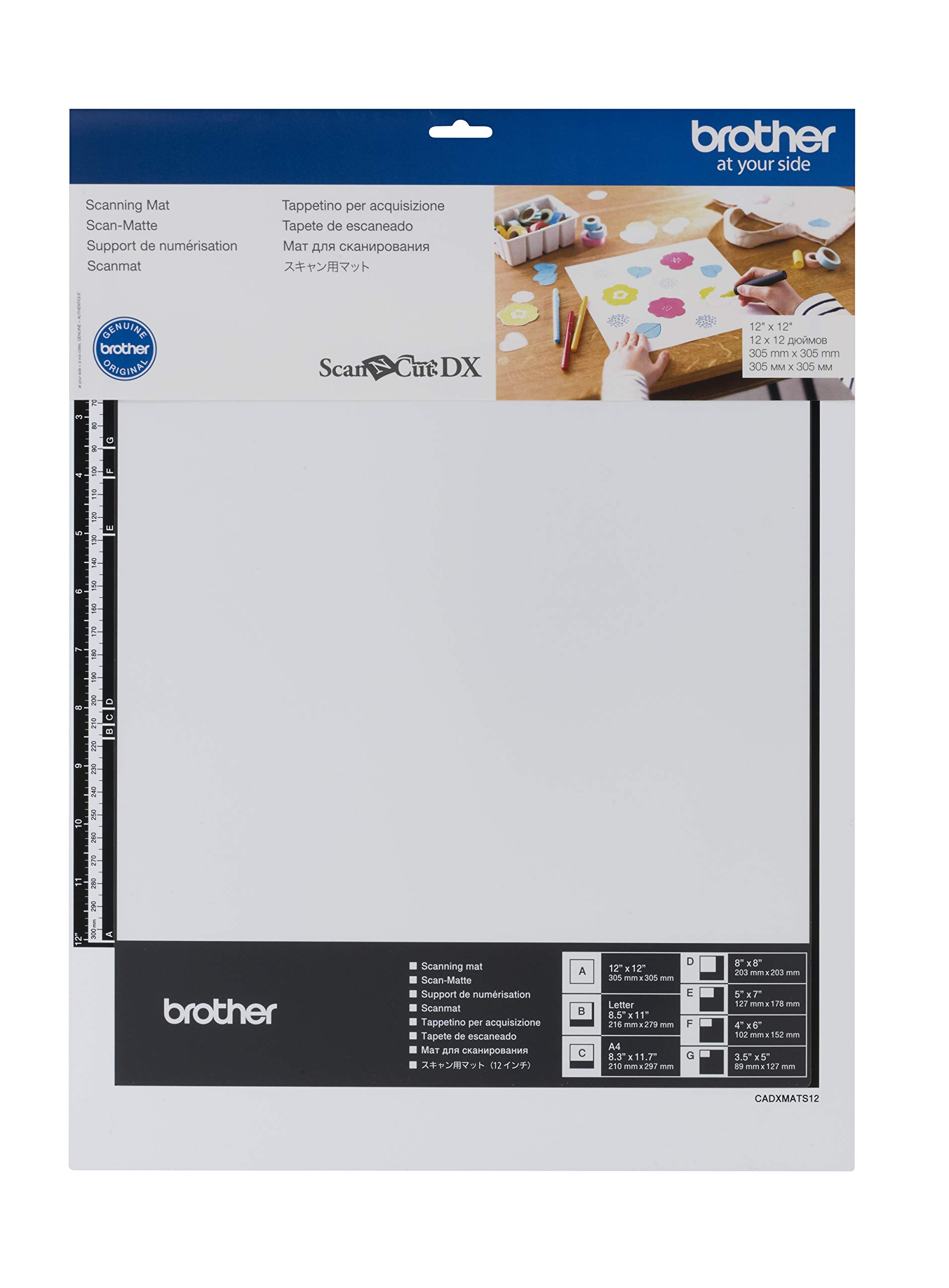 Brother CADXMATS12 Scanning Mat 12'' x 12'', 12'' 12'', White by Brother