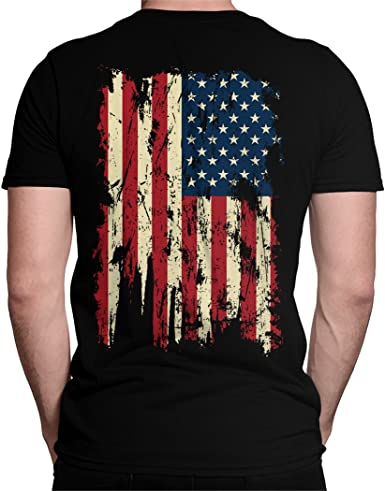 US Flag T-Shirt Distressed American Flag Unisex Tshirts for Men and Women