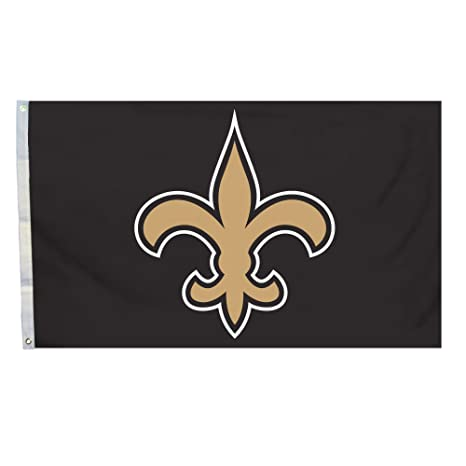 Amazon Com Nfl New Orleans Saints Logo Only 3 By 5 Feet Flag With