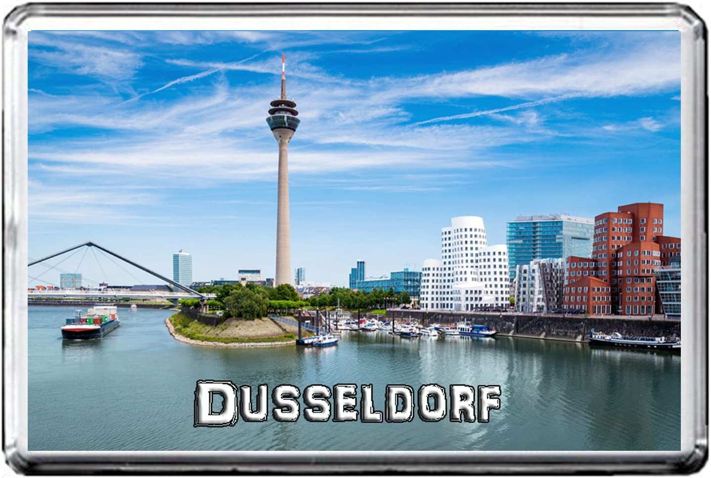 GERMANY ATTRACTIONS 0382 DUSSELDORF AIMANT POUR LE FRIGO THE CITY OF GERMANY REFRIGERATOR MAGNET GERMANY LANDMARKS