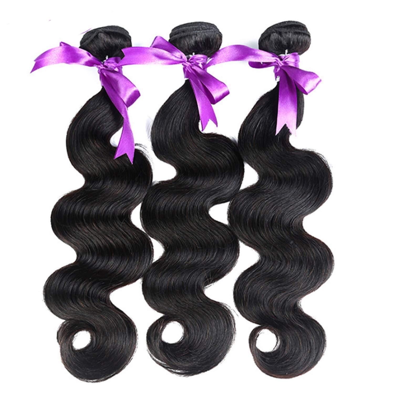 髪マレーシア実体波髪3個人間の髪の束非レミーの毛延長8-28インチの体毛かつら かつら (Length : 18 20 22) B07THXKD7R  18 20 22