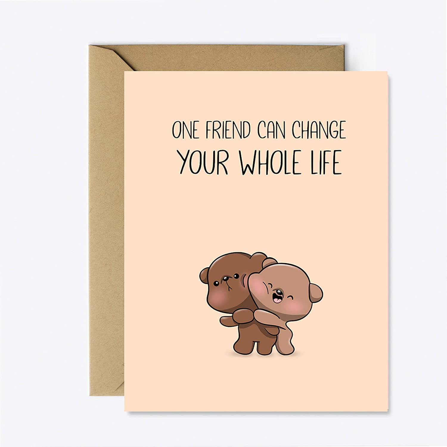 Card for Friend Cute Bear Greeting Card for her//him Friendship Mothers Day Card Birthday Anniversary Card sister mom Coworker